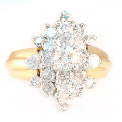 Waterfall diamond ring for Waterfall design ring